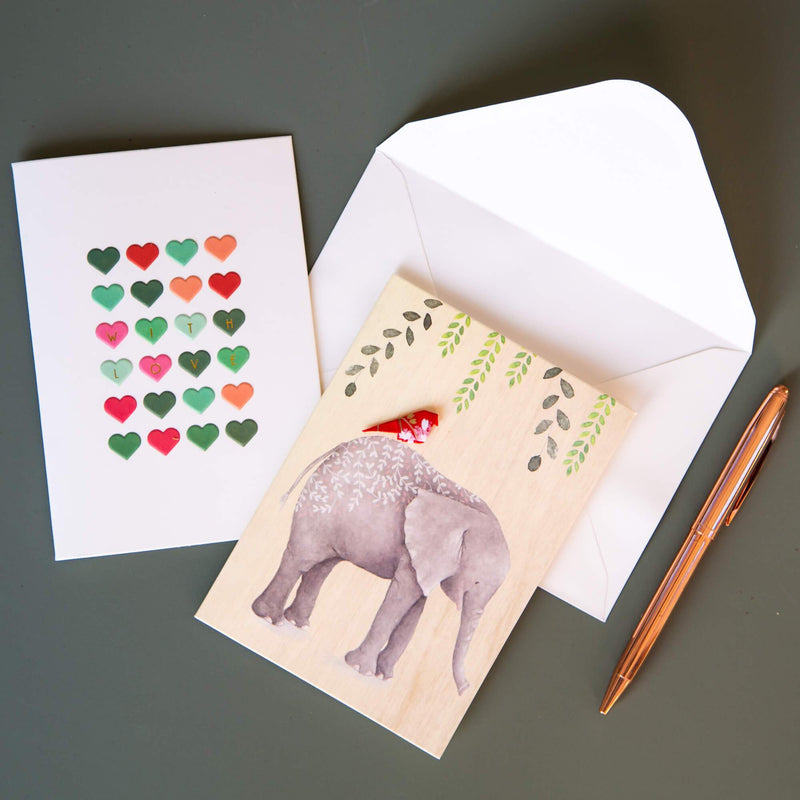 Card Embossed With Love