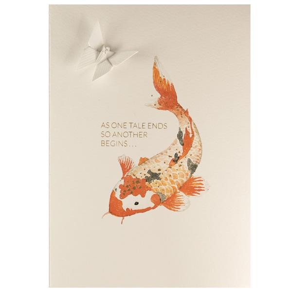 Card Watercolour Koi