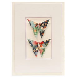 Card Twin Butterfly Blossom Green