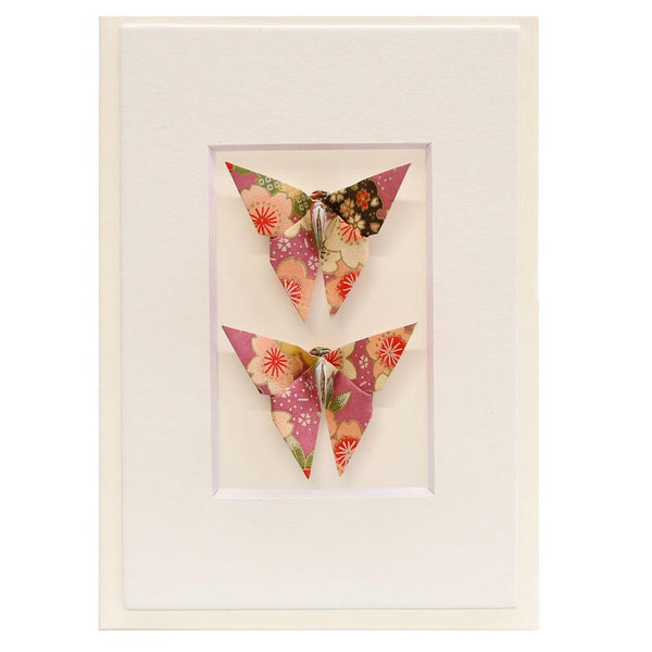 Card Twin Butterfly Blossom Purple