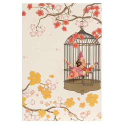 Card Crane in Cage Garden Purple