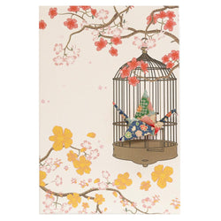 Card Crane in Cage Blossom Green