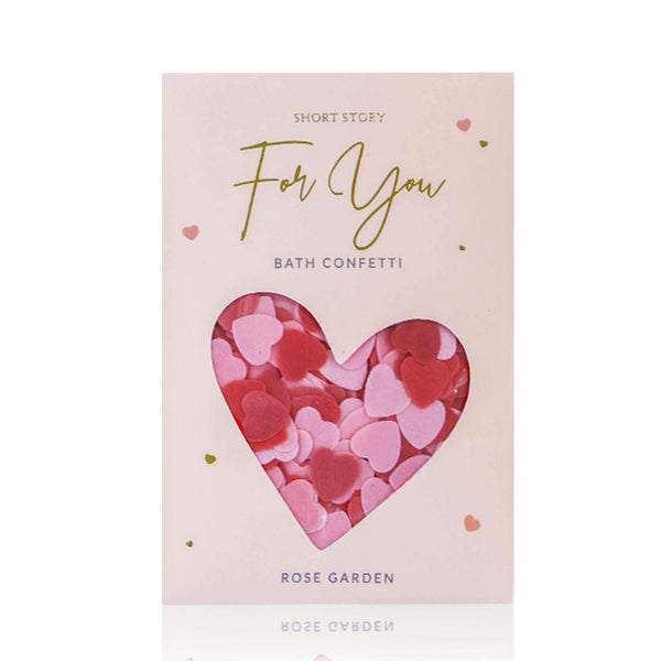 Card Bath Confetti For You Rose