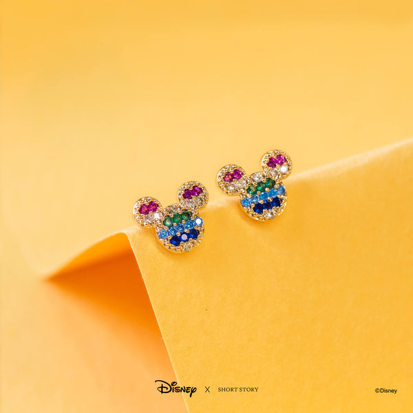 Disney Earring Diamante Mickey Ears