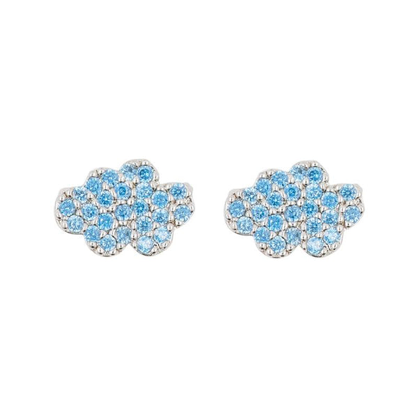 Earring Diamante Cloud Blue
