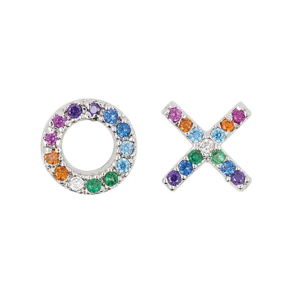 Earring Diamante XO Rainbow
