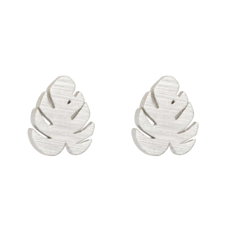 Earring Mini Monstera Leaf