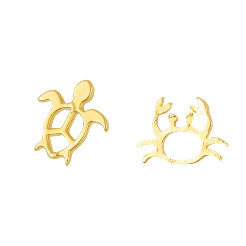 Earring Mini Turtle and Crab