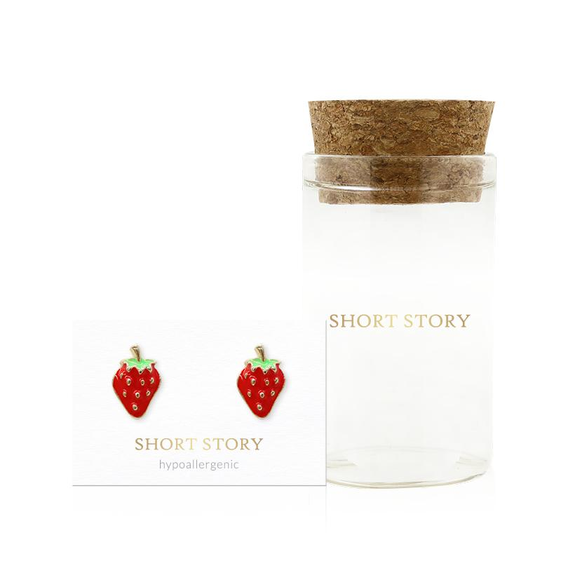 Earring Epoxy Strawberry