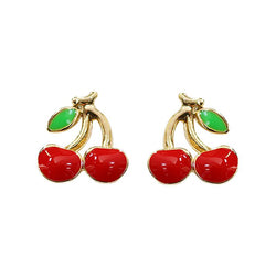 Earring Epoxy Cherry