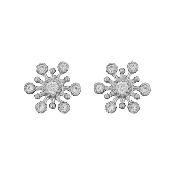 Earring Diamante Snowflake