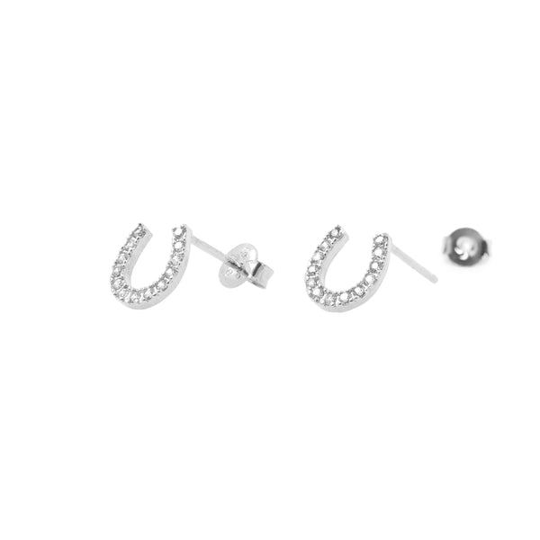 Earring Diamante Horseshoe