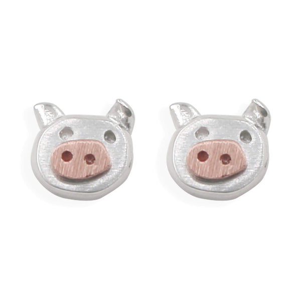 Earring Little Piggy Rose Gold
