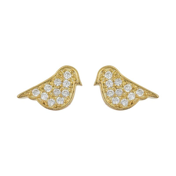 Earring Diamante Bird Robin