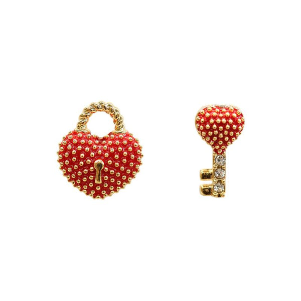 Fancy Earring Heart & Key Locket