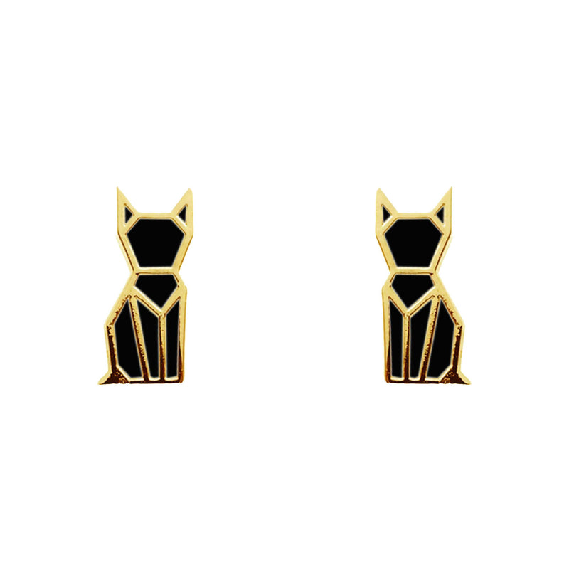 Earring Cat Black