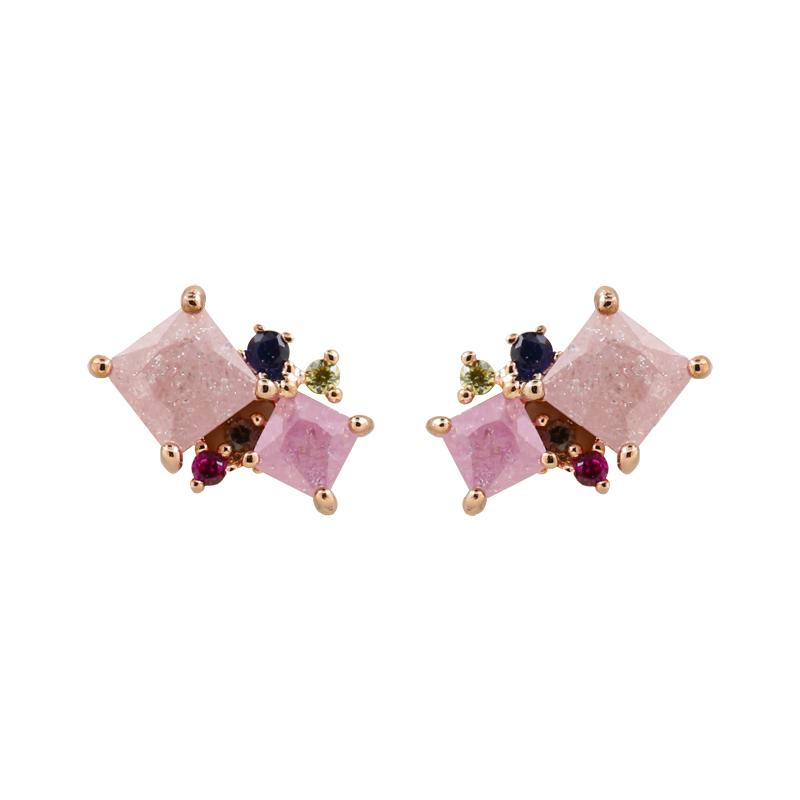 Earring Allure Pink and Purple