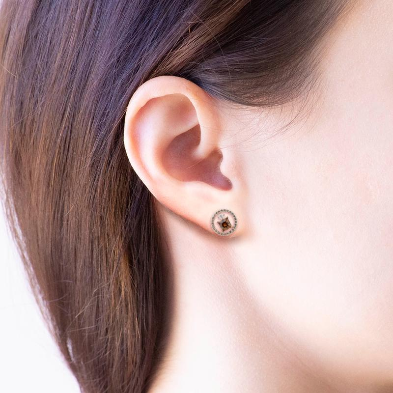 Earring Ethereal Circle Rose Gold