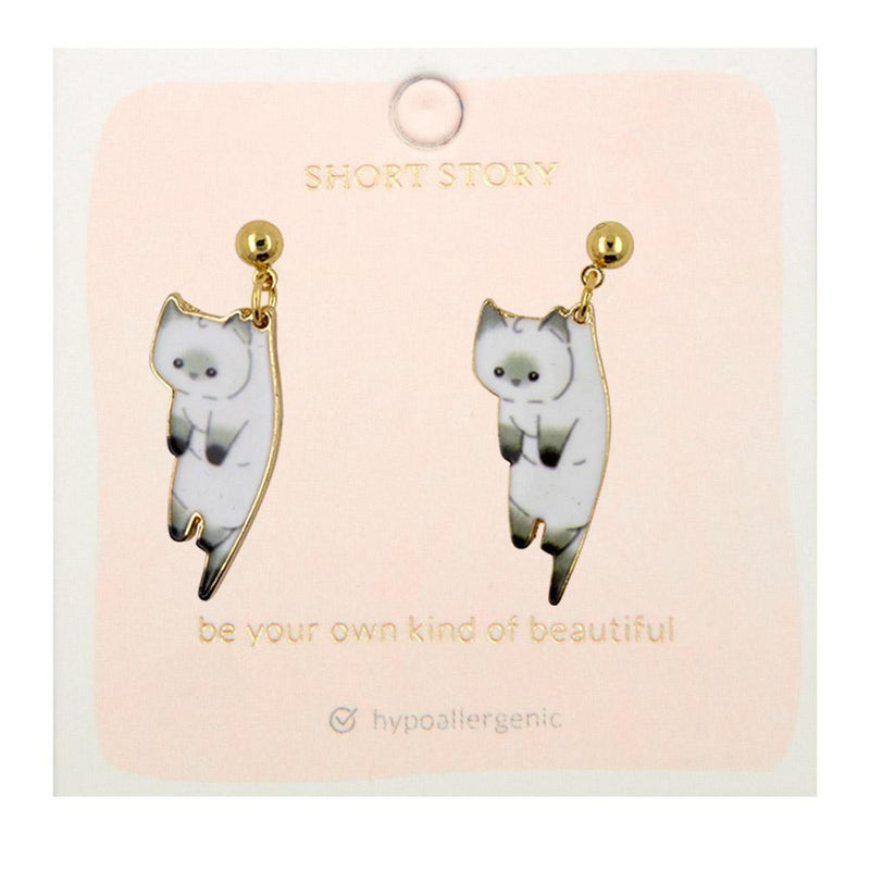Drop Earring Cat