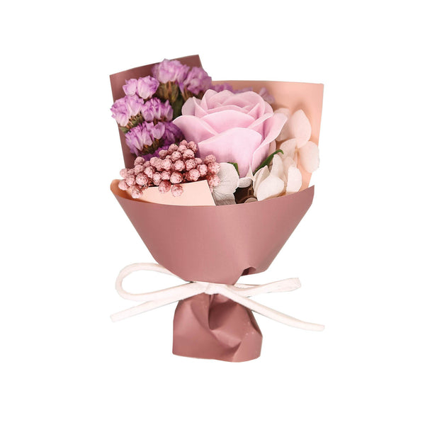 Mini Floral Bouquet Box Light Purple