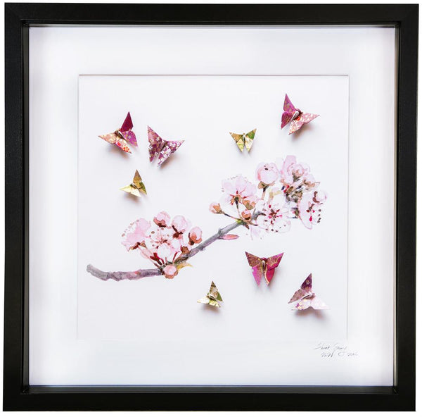 Large Black Frame Plum Blossom