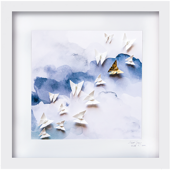 Large White Frame Sky Blue
