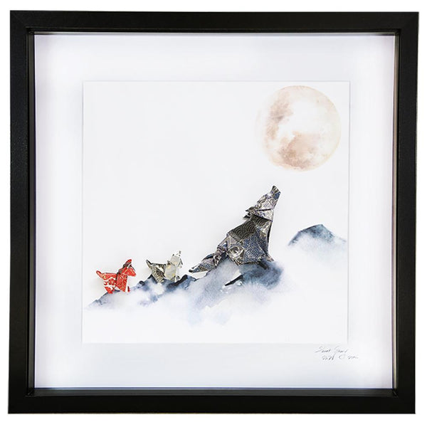 Large Black Frame Wolf Pack