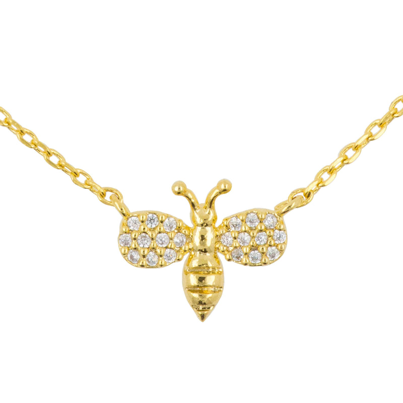 Necklace Diamante Bee