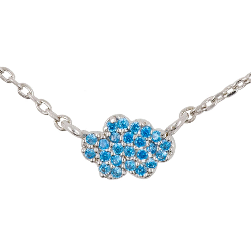 Necklace Diamante Cloud Blue