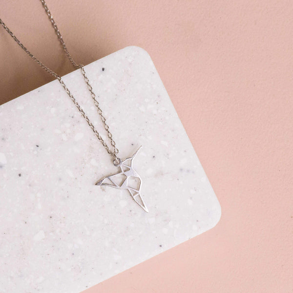 Necklace Hummingbird Stencil