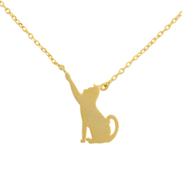 Necklace Cat and Fishbone