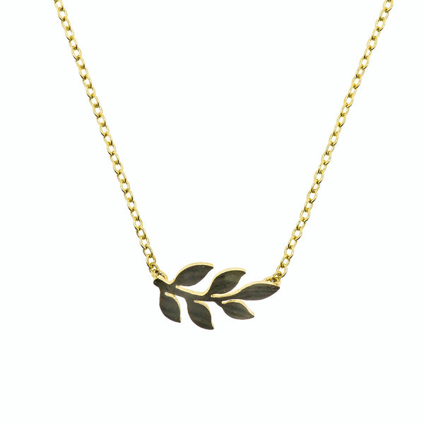 Necklace Simple Leaf