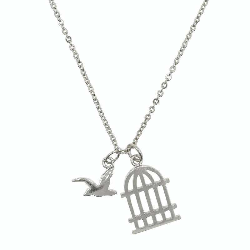 Necklace Bird and Cage