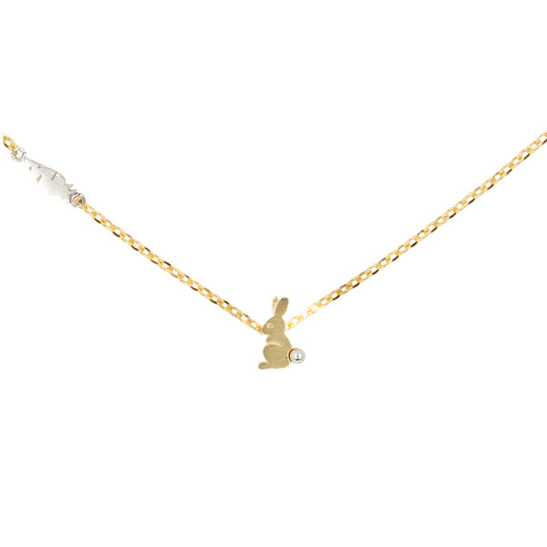Necklace Rabbit & Carrot