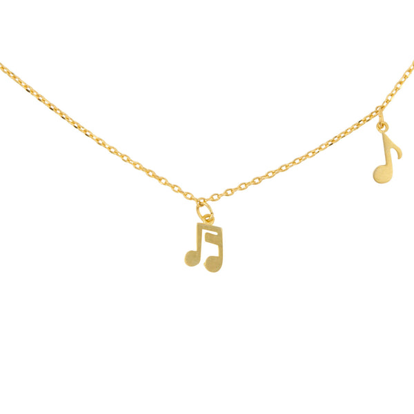 Necklace Music Notes