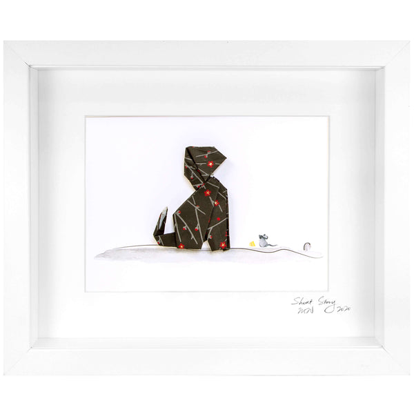 Small White Frame Cat Midnight