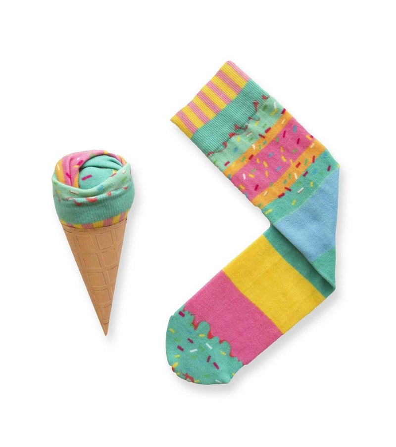 Ice Cream Socks Rainbow