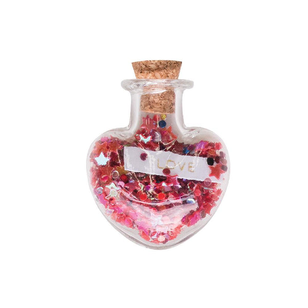 Trinket Bottle Love Heart Red