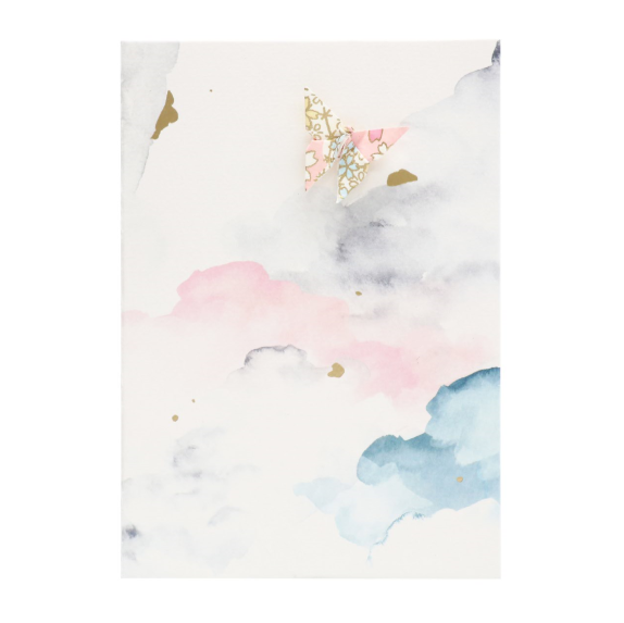 Card Watercolour Sky Pink