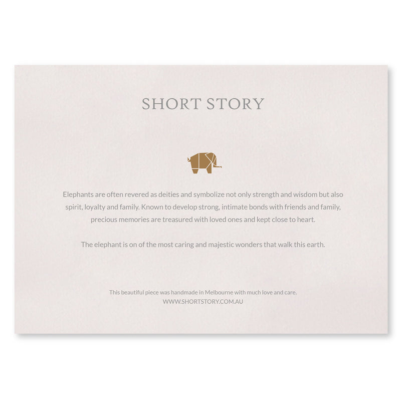 Small White Frame Happy Elephant Pink