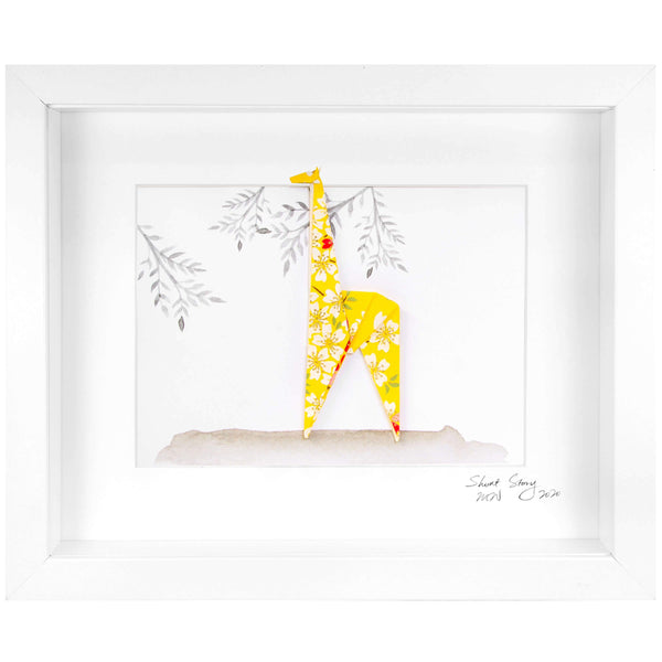 Small White Frame Giraffe