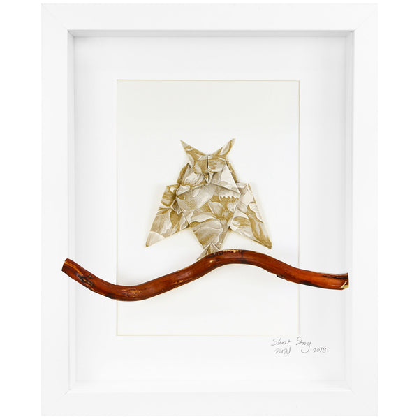 Small White Frame Mr Owl
