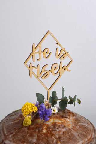 Cake Topper - He is risen