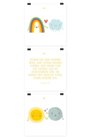 Kinder Poster - Sun&Moon - 3er Set
