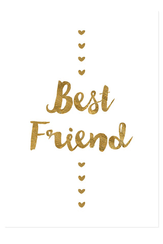 Postkarte - Best friend - gold