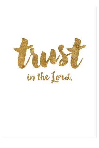 Postkarte - Trust in the Lord - gold