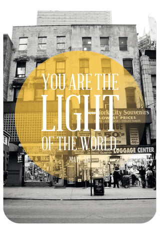 Postkarte - You are the Light