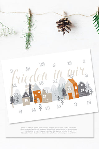 Postkarte - Adventskalender - Frieden in mir