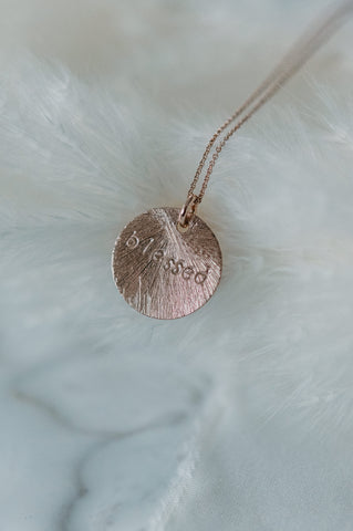 Necklace - Blessed - roségold