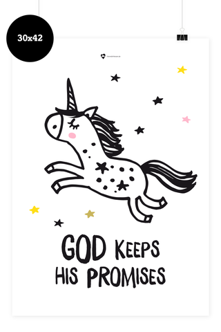 Kinder Poster - God keeps his promises